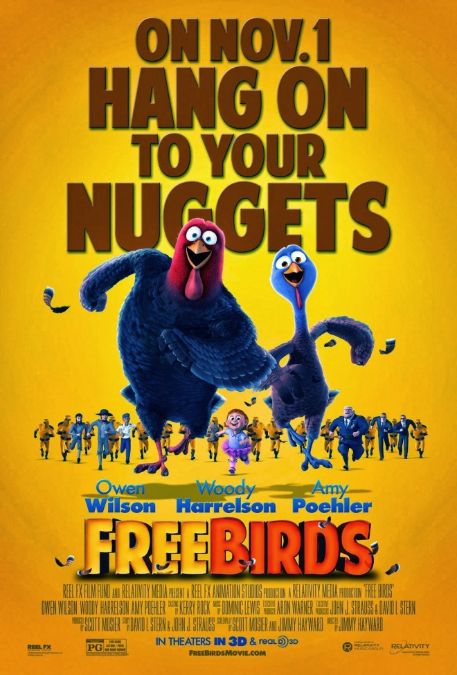 Free Birds Yellow Poster
